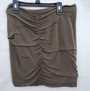 FREE PEOPLE seaweed green mini skirt size M